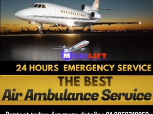 Advanced ICU Air Ambulance Service in Jamshedpur by Medilift for Safe Shifting