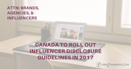 Canada Influencer Disclosure - Click to share on Facebook!