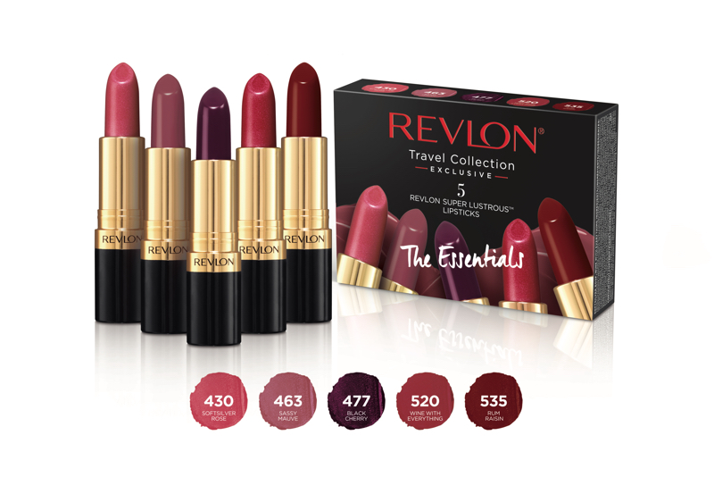 Revlon's Lipstick Collection for Travel