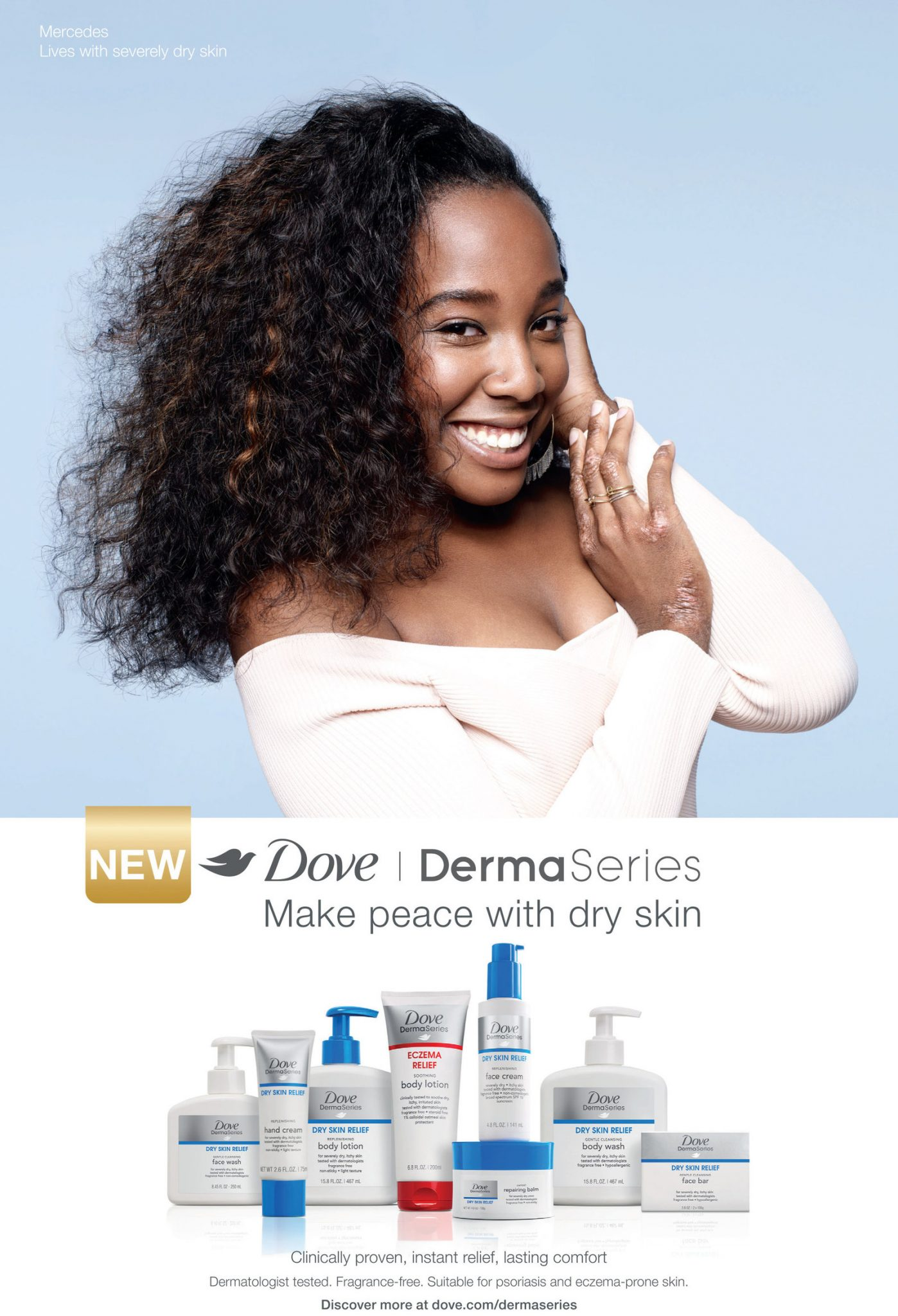 Dove Launches DermaSeries Product Collection for Dry Skin Sufferers