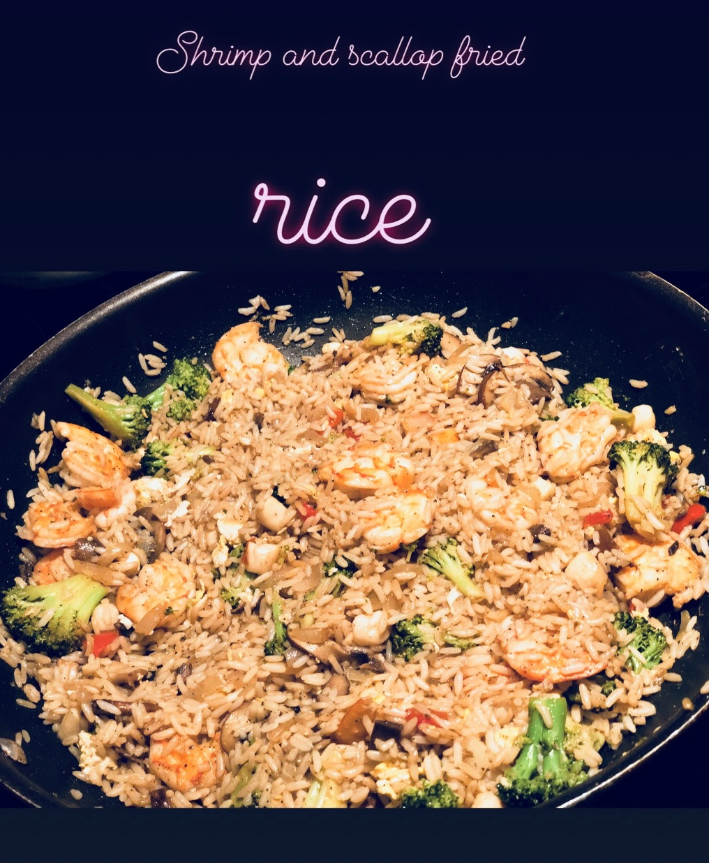 Recipe! Try Shrimp and Scallop Fried Rice at Home