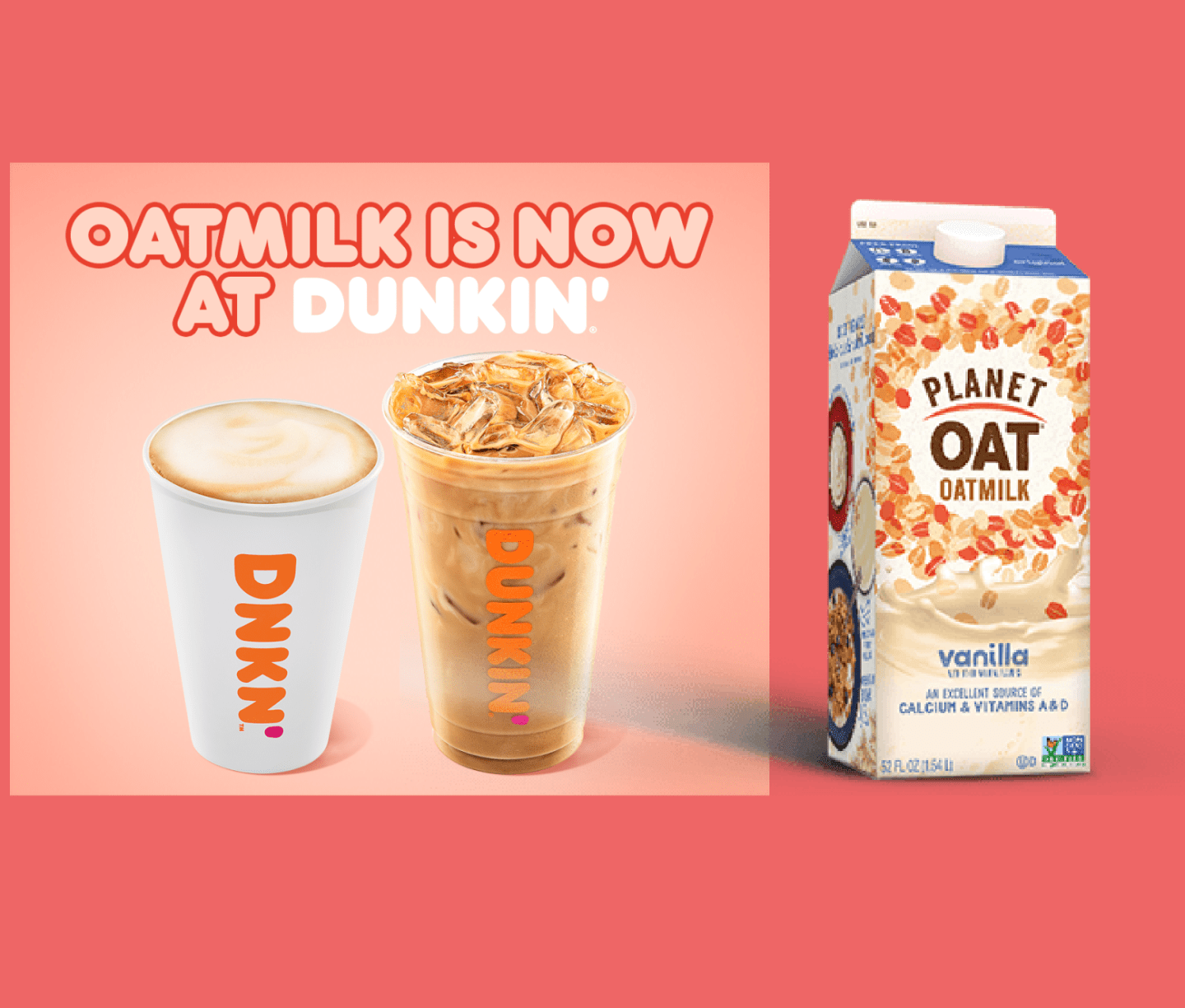 Dunkin Adds Oatmilk to its Menu Nationwide