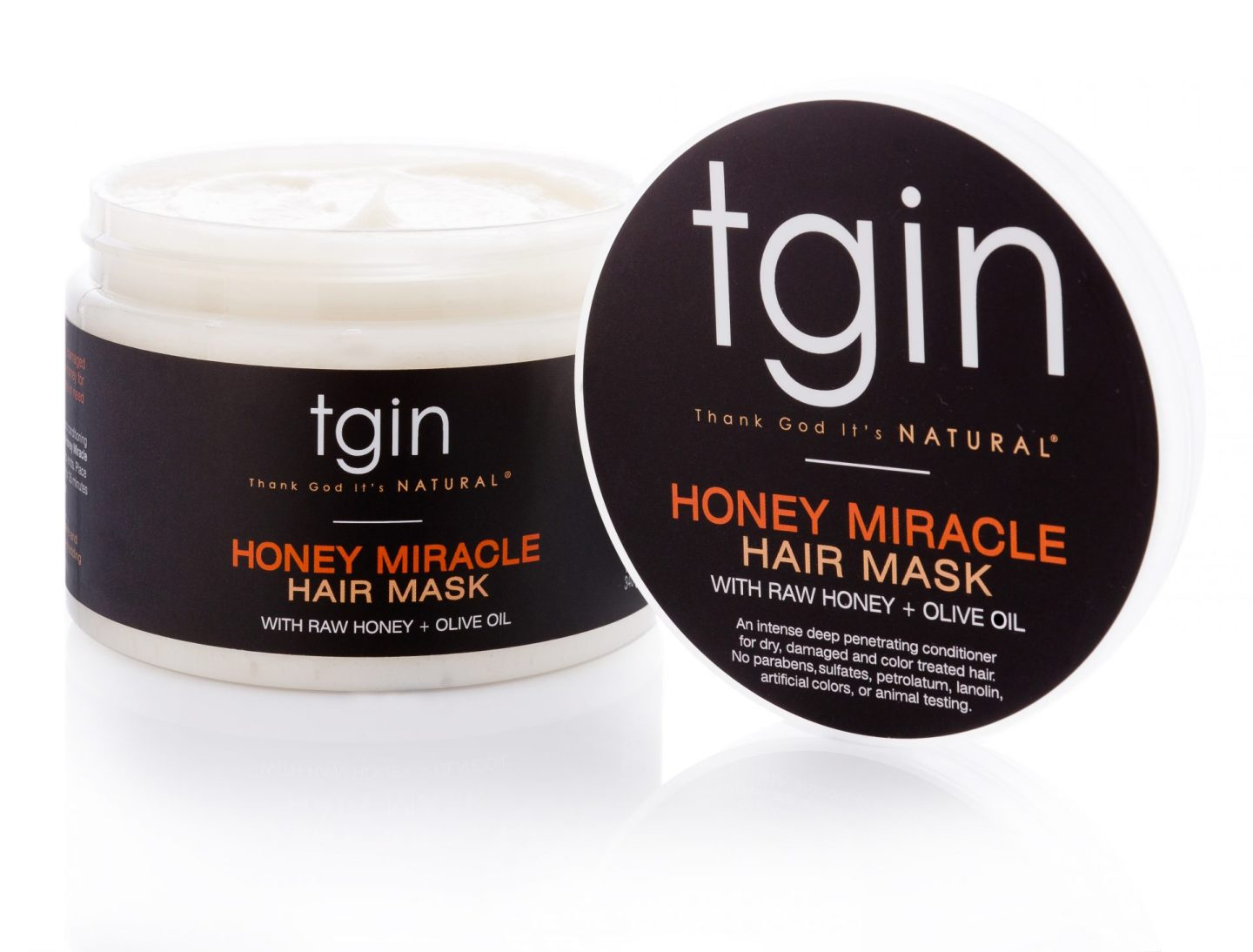 TGIN Honey Miracle Hair Mask with Raw Honey + Olive Oil Deep Conditioner