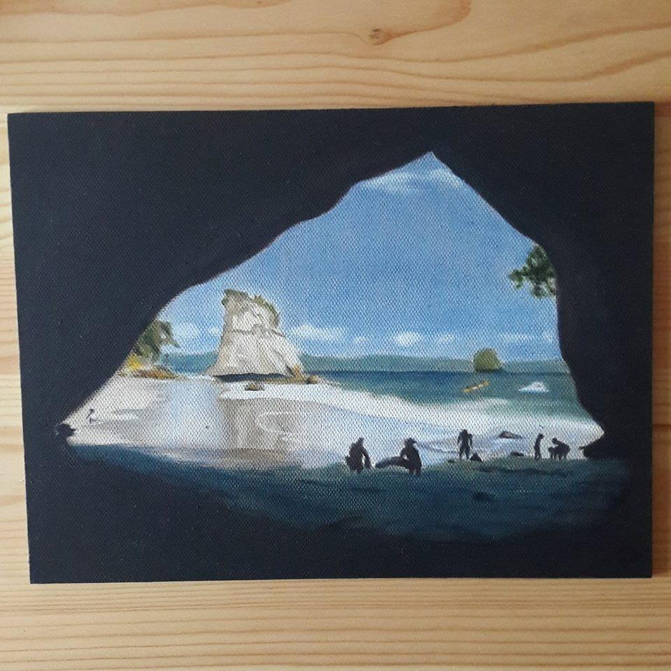 Nieuw-Zeeland schilderij.