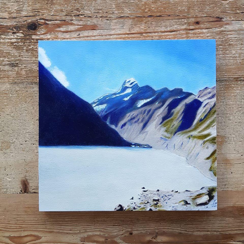 Nieuw-Zeeland Mount Cook schilderij.