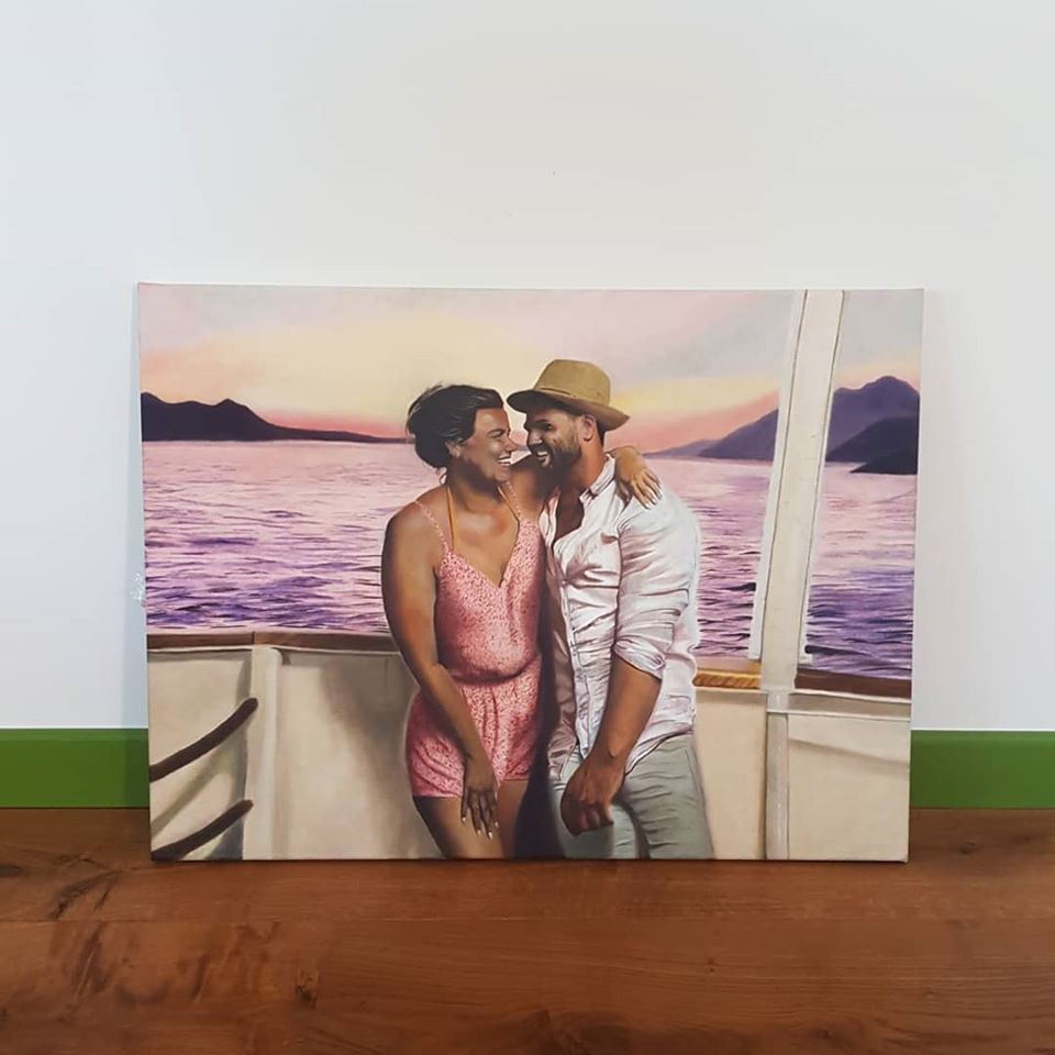 couple oil painting