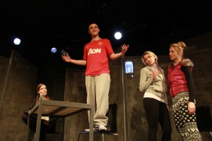 L-R: Lila Whelan (Caitlin), Oliver Yellop (Liam), Abbiegale Duncan (Sam) and Sarah Fraser (Kay). Photography: Sprocket Theatre.