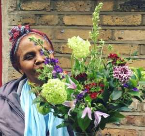 One of Bread and Roses' refugee florists