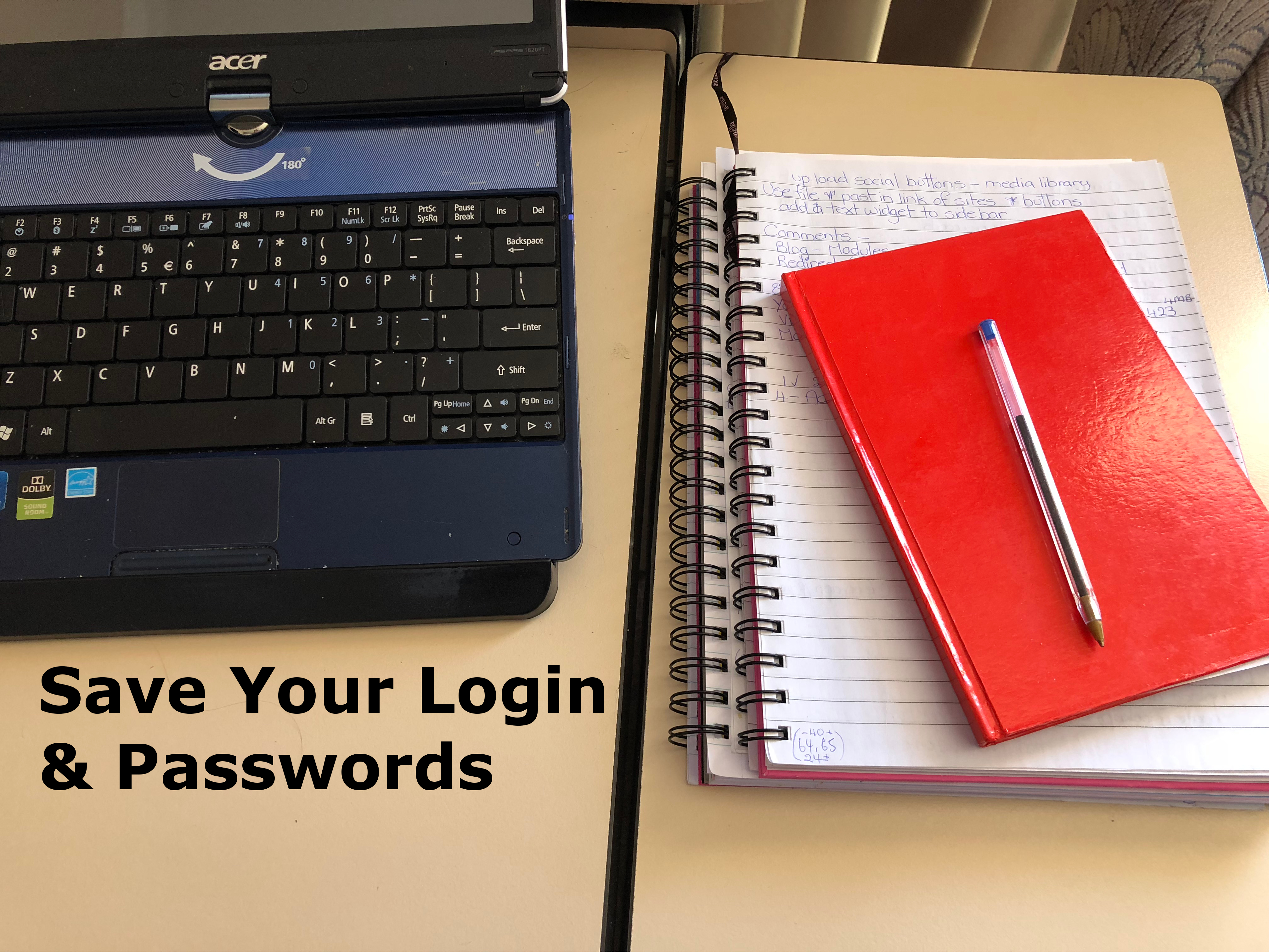 A Lesson well learnt – Save details and passwords