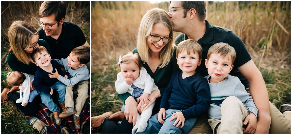 Family photo session outdoors