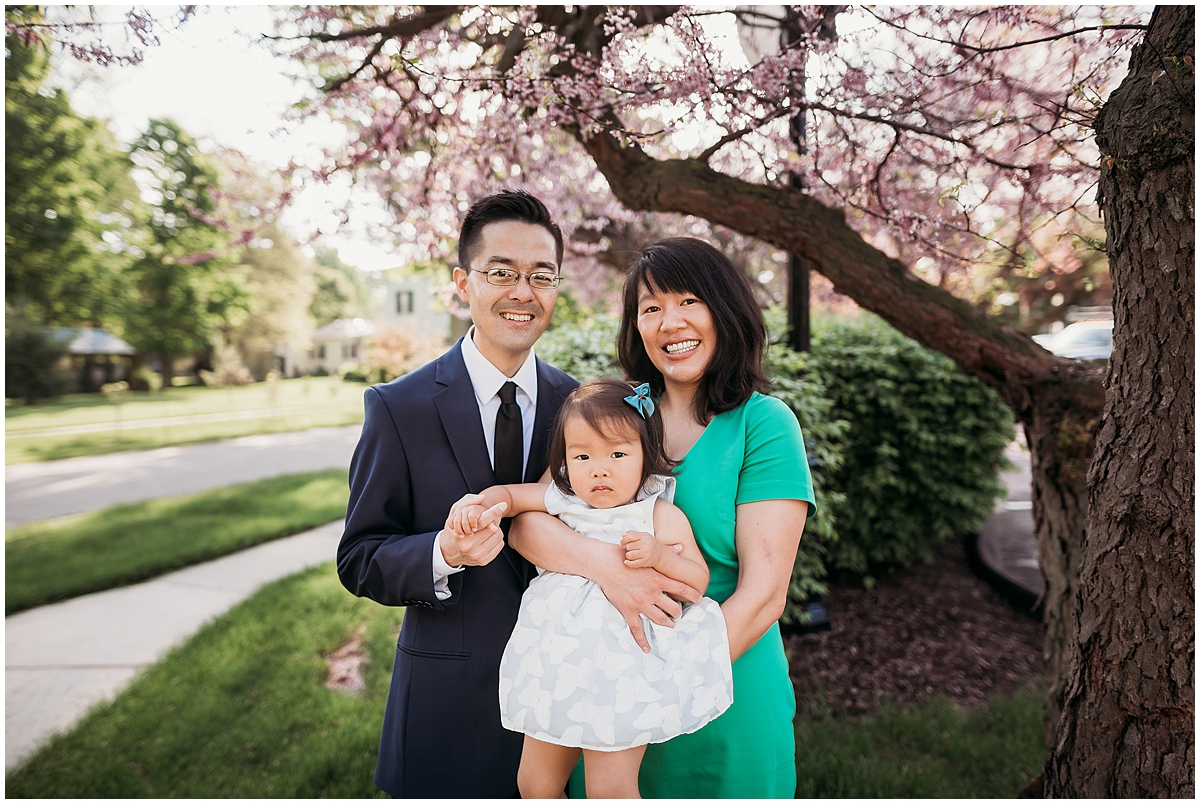 Spring family photo session in Howell