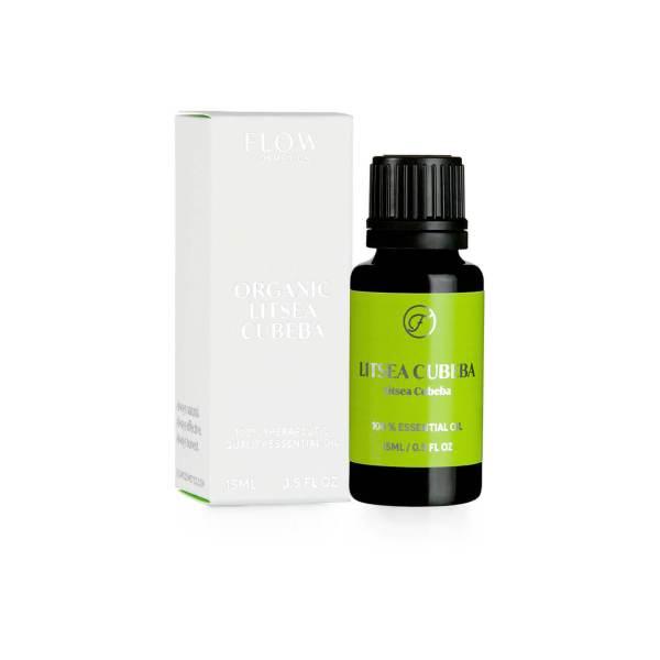 Flow Cosmetics Luomu Litsea Cubeba Eteerinen Öljy 15 ml