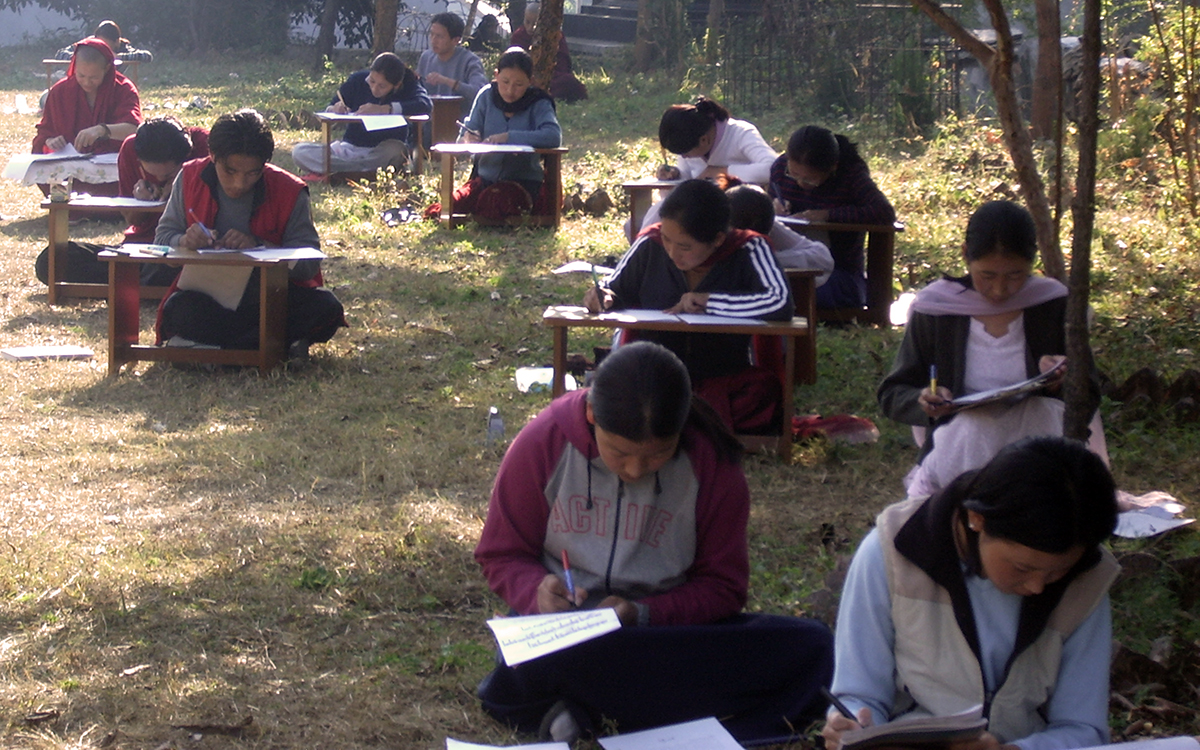 Students are taking exam