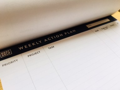 I love my Best Self weekly action plan!