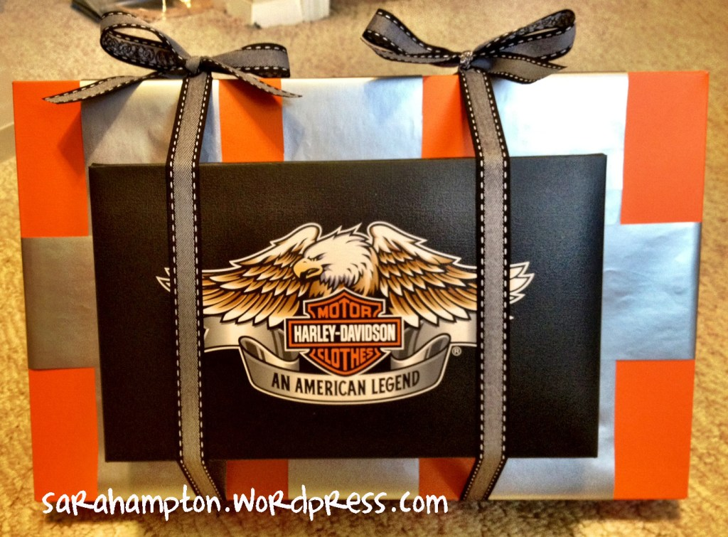 Harley Davidson Gift Wrapping At Home With Mrs Hampton