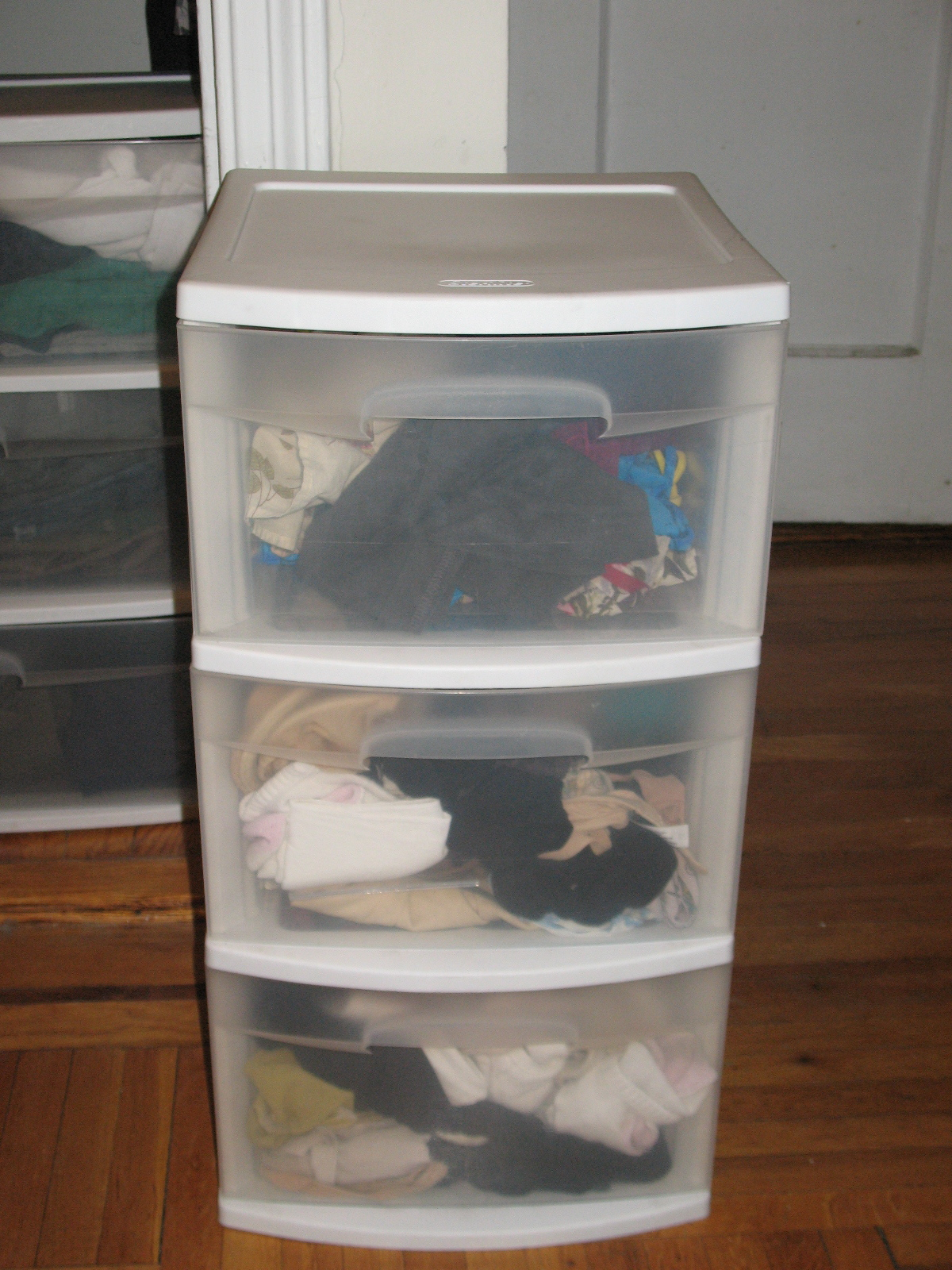 Plastic dresser clothing storage  Sarah and Davids Stoop Sale