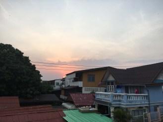 Sunset near the Wang River.