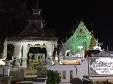 Temple at night.