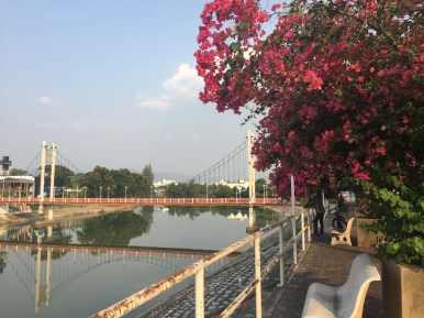 Bridge across Wang River, Lampang.