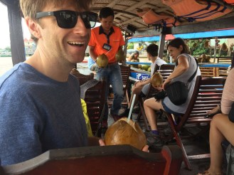 Our Mekong Delta boat tour! We were with Spanish, Swiss, and Vietnamese tourists. It was a wonderful day.