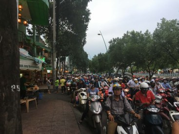Typical Saigon rush hour.