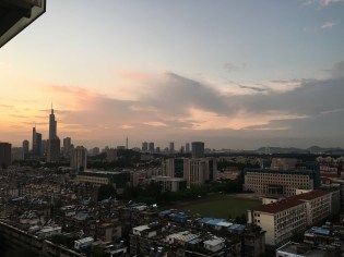 Sunset looking towards downtown Nanjing.