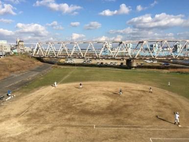 Baseball by the bridge