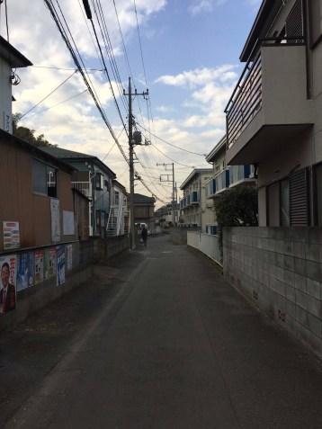 Kawasaki neighborhood (just west of Tokyo)