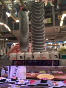 Conveyor built sushi
