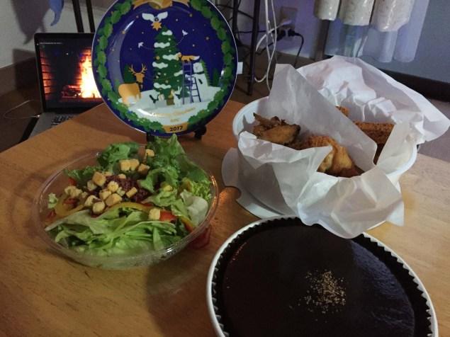 Setup for Christmas dinner