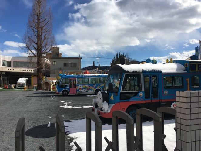 Kindergarten buses.