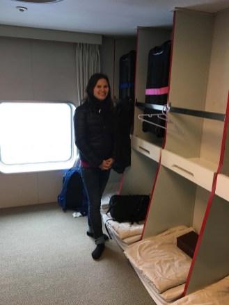 Ferry sleeping quarters.