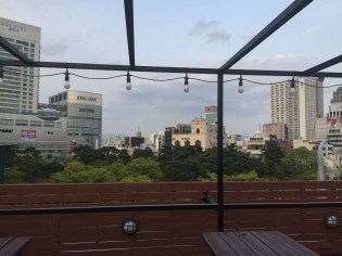 View from the Board Game Cafe's rooftop bar.