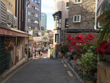Beautiful shopping alleys litter the city.