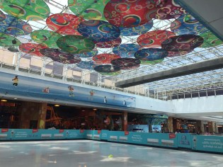 Ice rink in Lulu Mall.