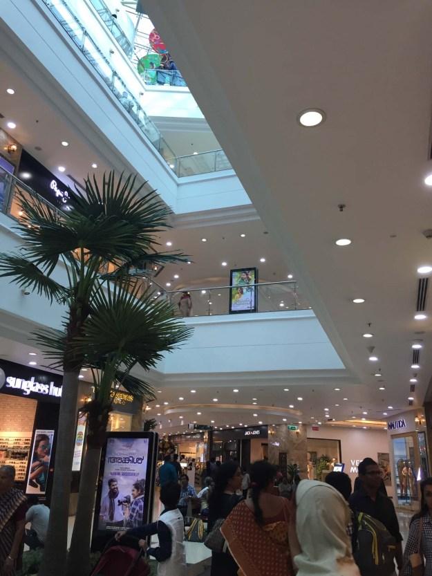 Lulu mall, fantastically modern and Indian.