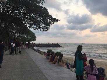 Local women enjoying the beach.