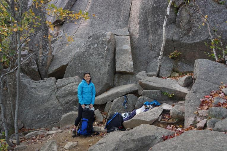 Rock Climbing on our Fall Acadia trip