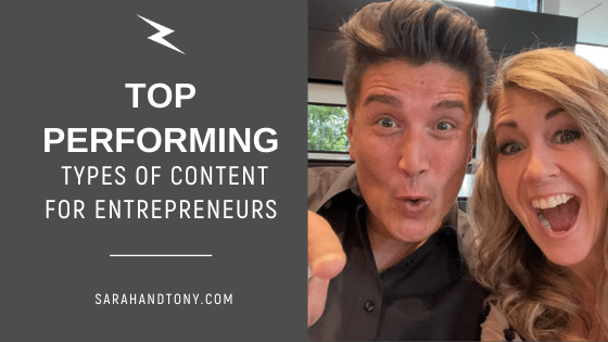 top performing types of content