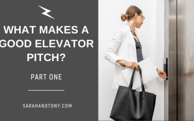 What makes a good elevator pitch? part one