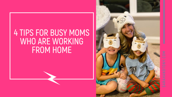 busy moms and dads working from home