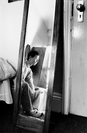 Young man in a secure residential home, Hertfordshire.