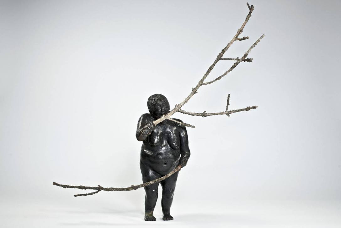 The Family Tree - 2008 - 9 x 3 x Variable depth - Bronze and Twigs