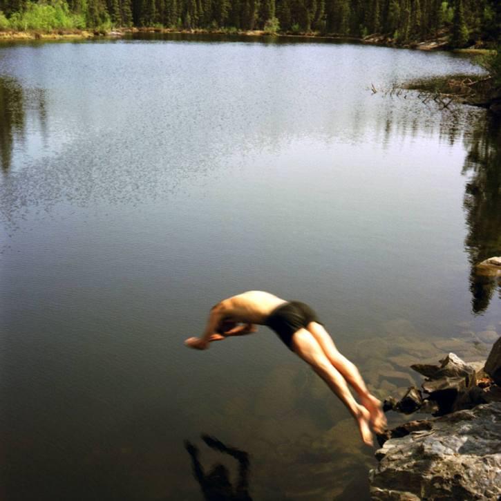 Jumping into Lake - 2003 - 15 x 15 - Chromogenic Print