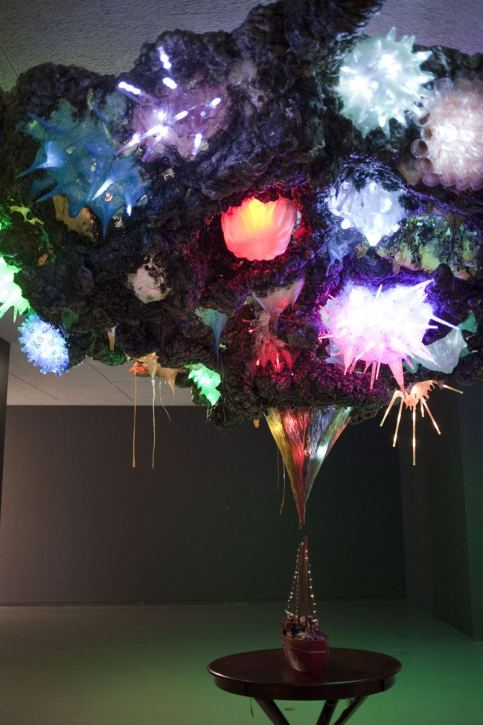 Untitled (Schooner and Fireworks) - 2012 - Mixed media sculpture