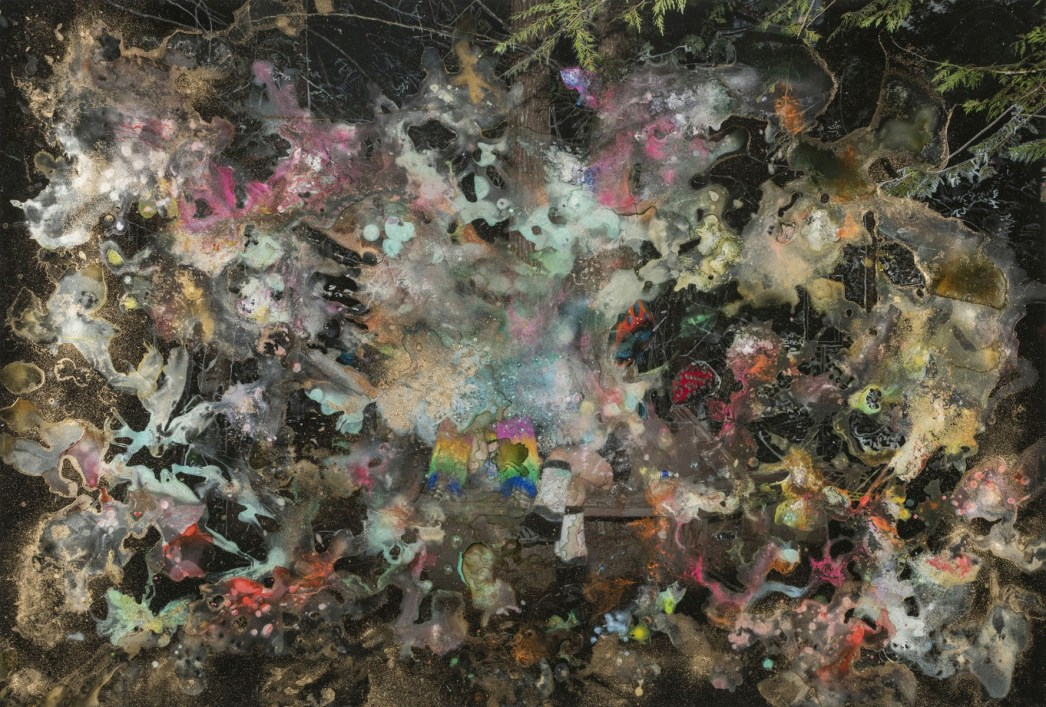Mess - 2015 - 42 x 28 -Chromogenic Print, Acrylic and Spray Paint, Ink