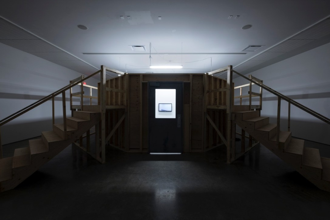 Hospital Hallway - 2016 - Install shot - Photo courtesy of Southern Alberta Art Gallery, Lethbridge