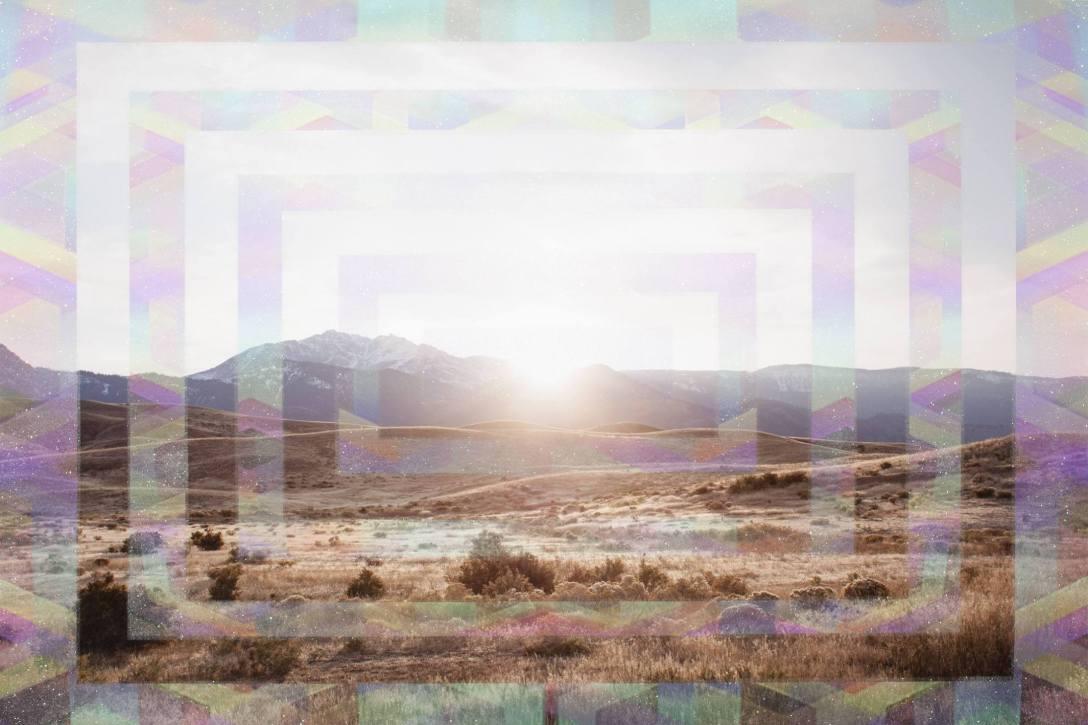 Montana Sunset - 2017 - 35 x 45 - Inkjet print and glitter