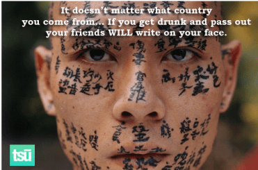 written on your face