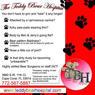 Teddy bear hospital ad